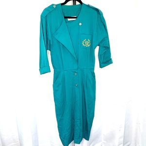 Vintage Danny and Nicole Button Assymetrical Dress